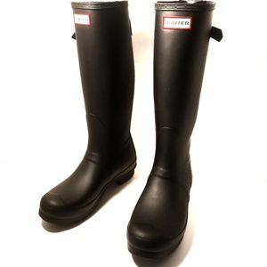NWOT- Hunter Boots Original Tall Black back strap